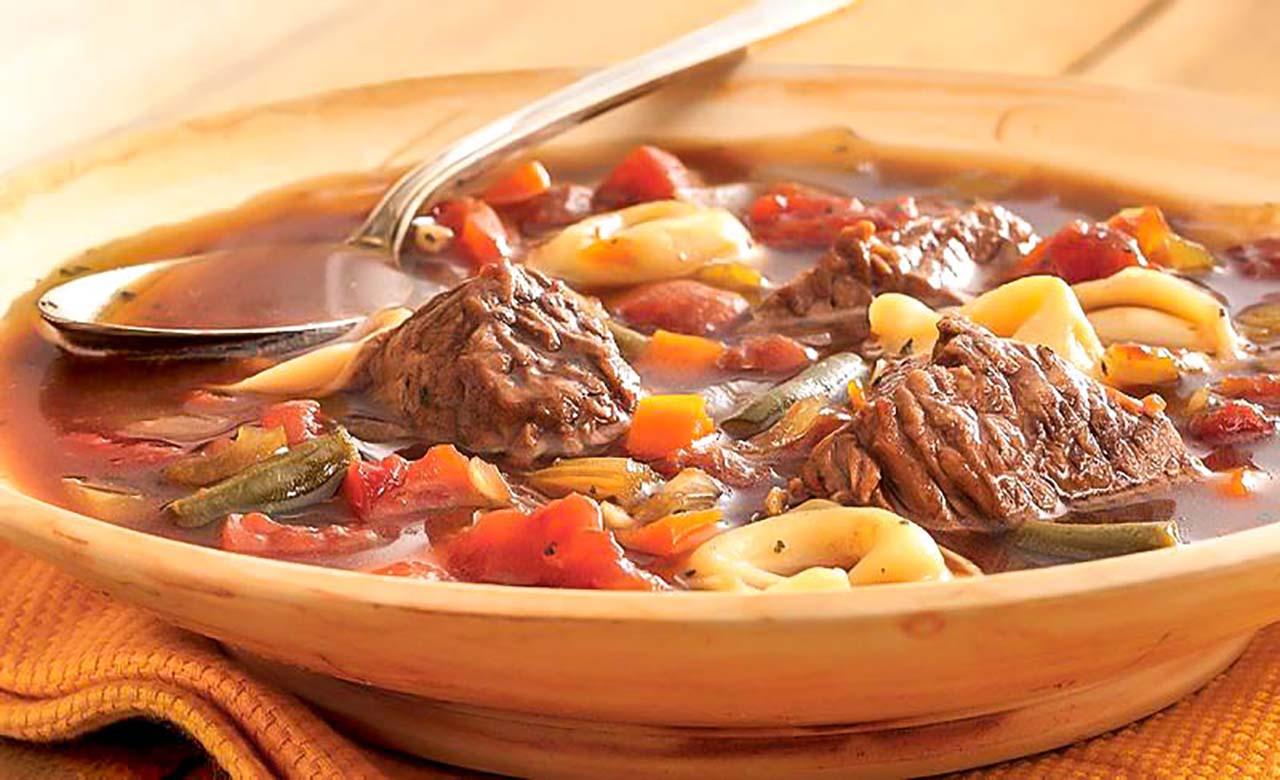 Soupe de bœuf pimenté